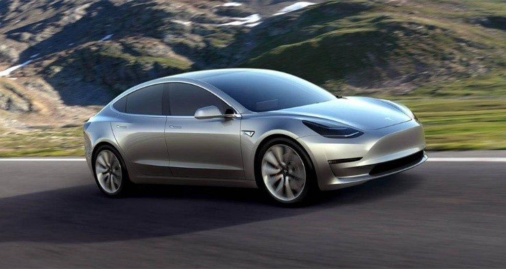 Voiture futur Tesla model 3